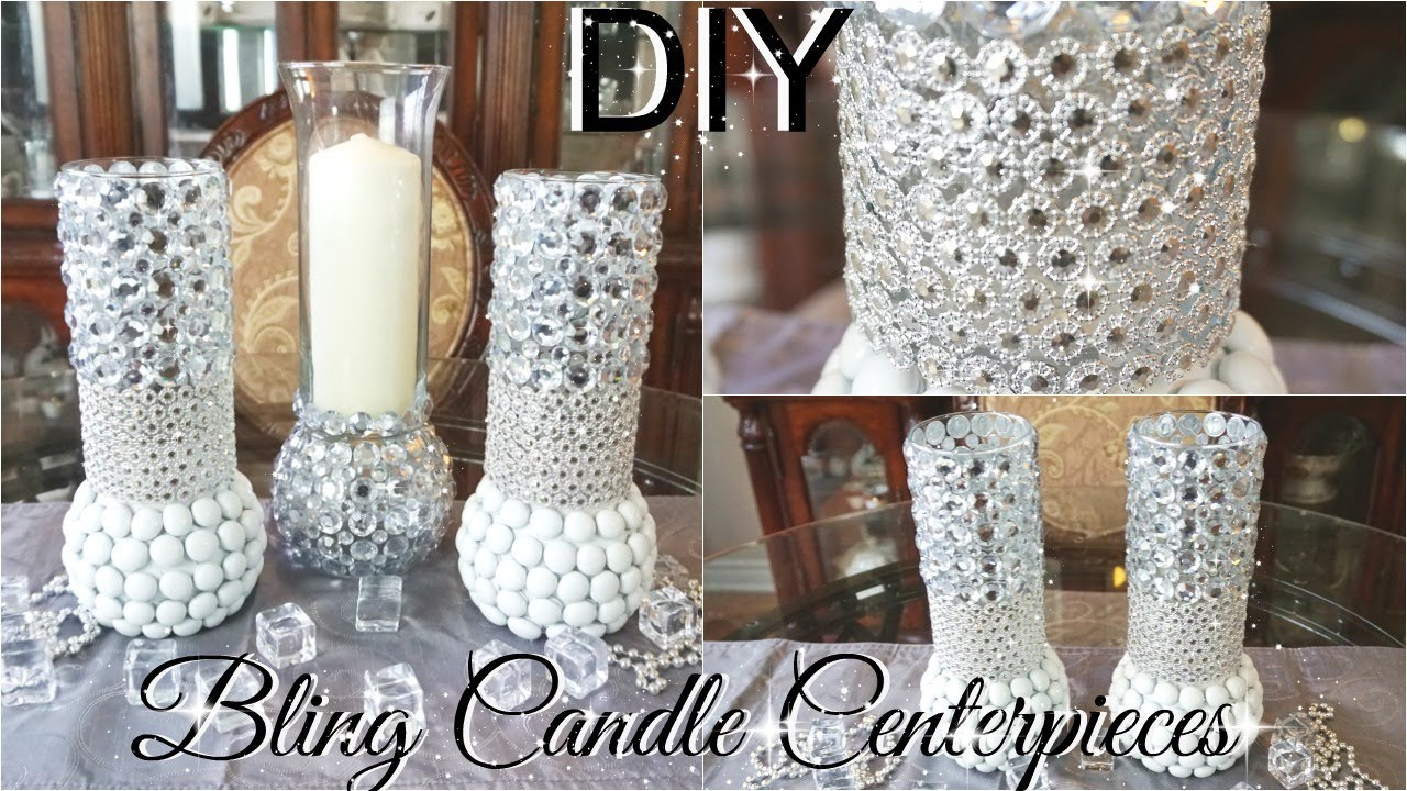 1715768e081 DIY BLING CENTERPIECE CANDLE HOLDERS WITH KINGSO DIAMOND MESH WRAP  PETALISBLESS 🌹