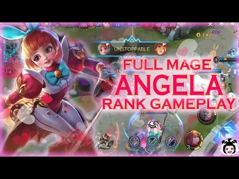 ANGELA FULL MAGE BUILD RANK (MOBILE LEGENDS GAMEPLAY)