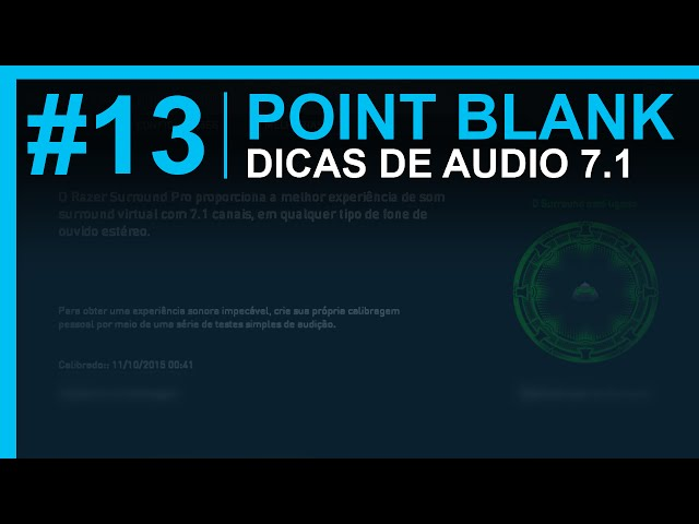 Point Blank | Dicas De Noção De áudio