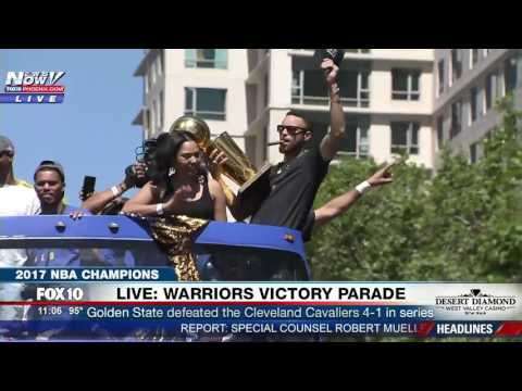 FAMILY AFFAIR: Steph Curry & Wife Ayesha Celebrate as NBA Champs at 2017 Warriors Victory Parade FNN