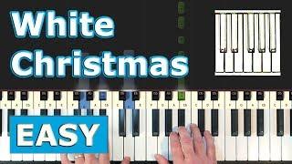 White Christmas - EASY Piano Tutorial - Sheet Music (Synthesia)
