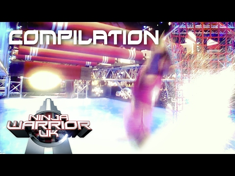 NEW: Ninja Warrior UK 2017 Splash Compilation 💦  | Ninja Warrior UK