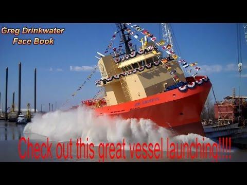 Edison Chouest Boat launching!!!