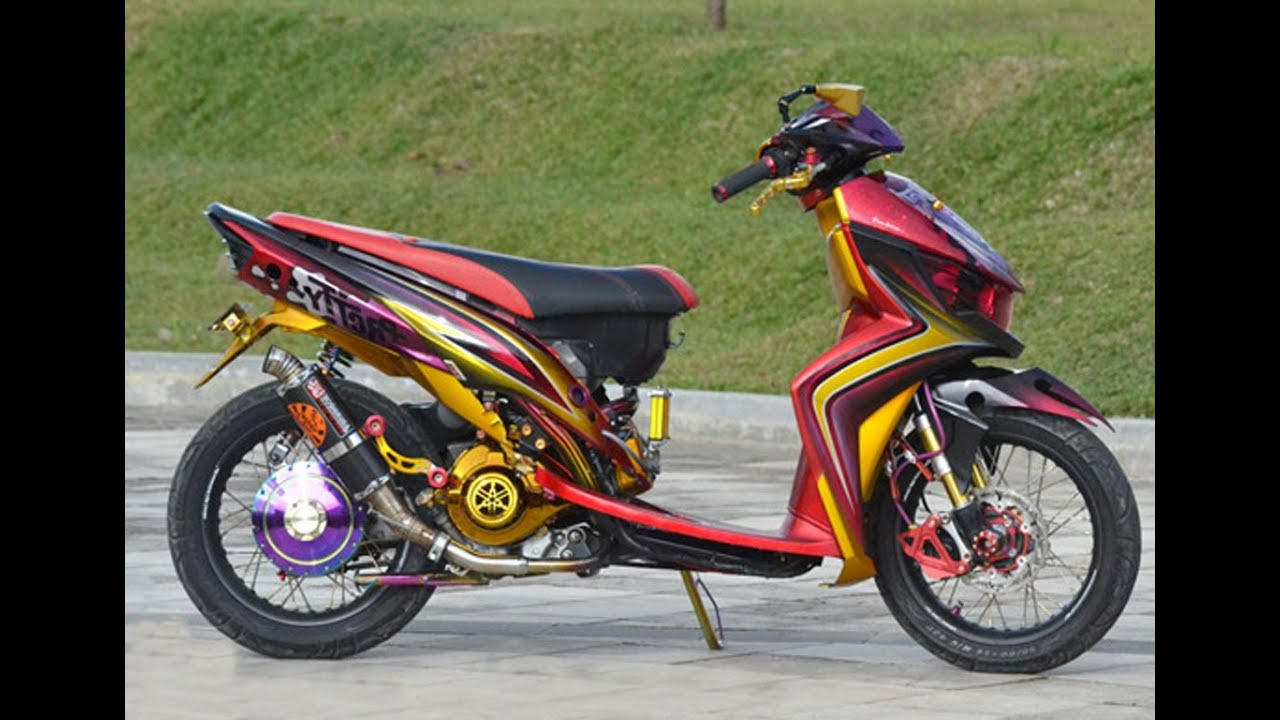 modifikasi mio gt road race terkeren