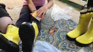 Kid Rain Boots Review from Oakiwear boots | Redmond Kids Review