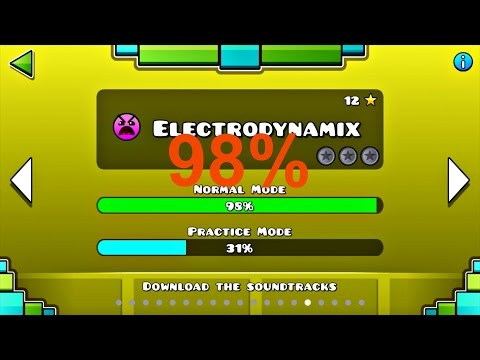 Geometry Dash - Electrodynamix 98% (all Coins)