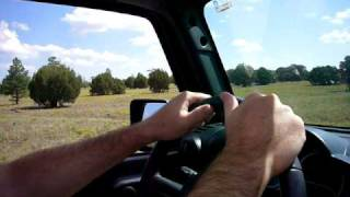 Jeep Wrangler Unlimited driving near Flagstaff Arizona