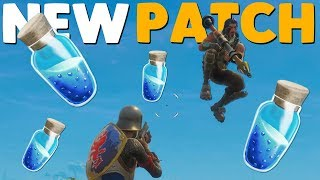 NEW SHIELD POTION UPDATE PATCH NOTES in Fortnite Battle Royale