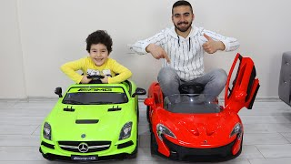 Yusuf and Uncle's race Cordless Cars