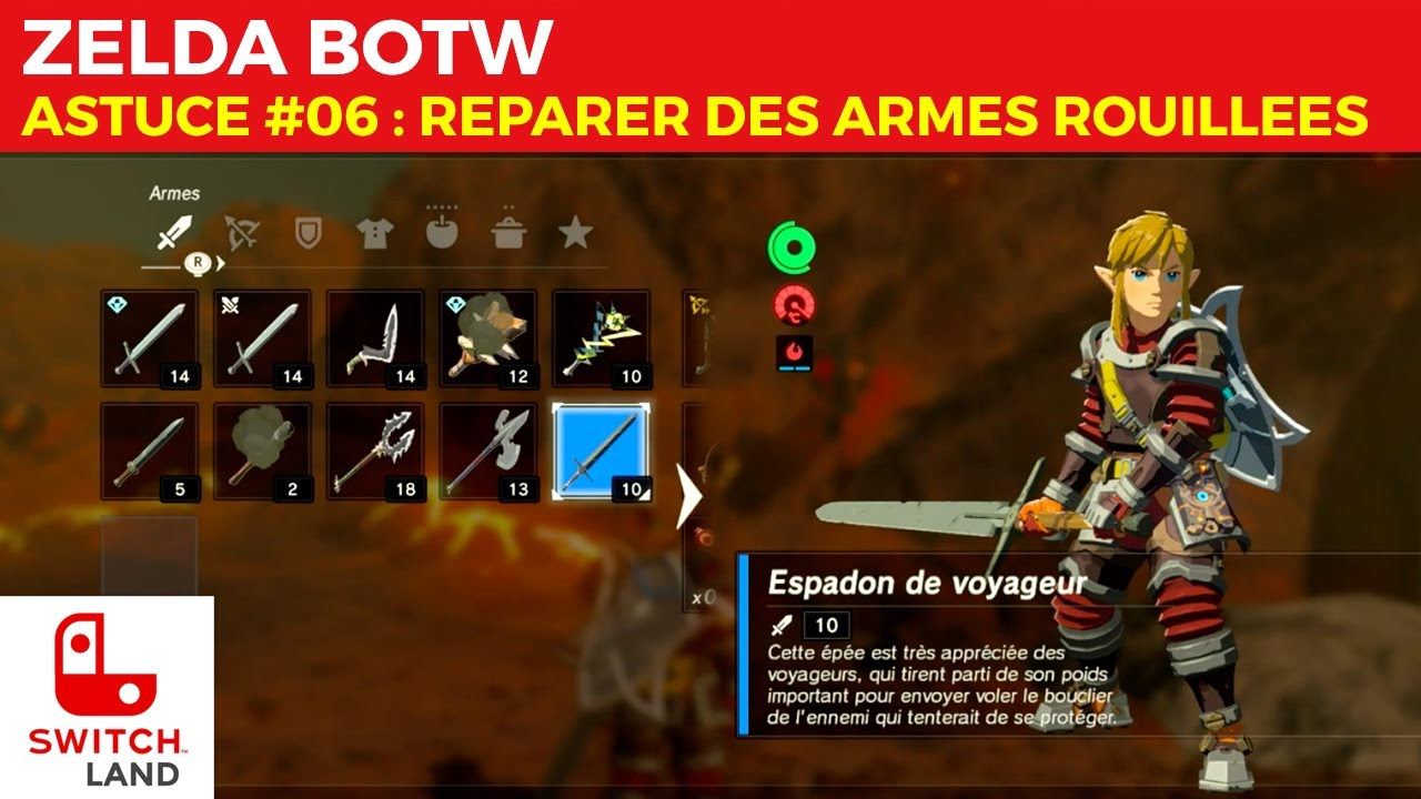 ZELDA BOTW - ASTUCE #06 - Reparer des armes rouillées