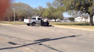 Corrupt Gonzales TX cop CPT Gayle Autry kidnaps Antonio Buehler