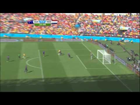 World Cup 2014 Group B Australia vs Netherlands 2014 All Goals/Australia - Holandia