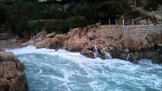 kaş küçükçakıl beach fırtına & lodos 07,01,2012