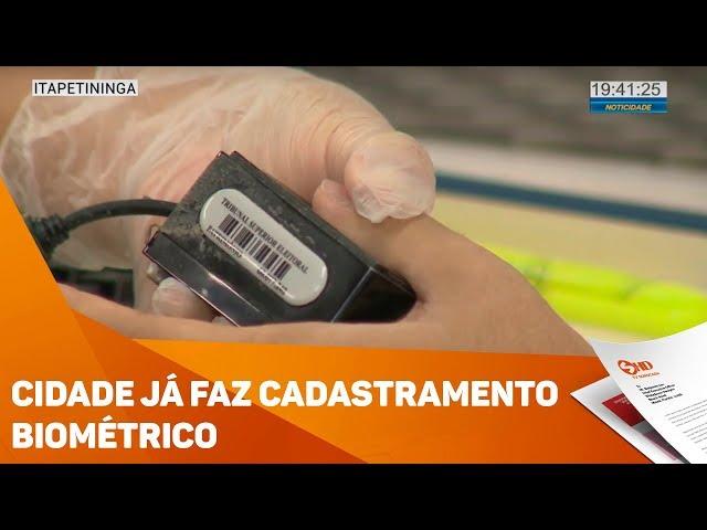 Cidade já faz cadastramento biométrico - TV SOROCABA/SBT