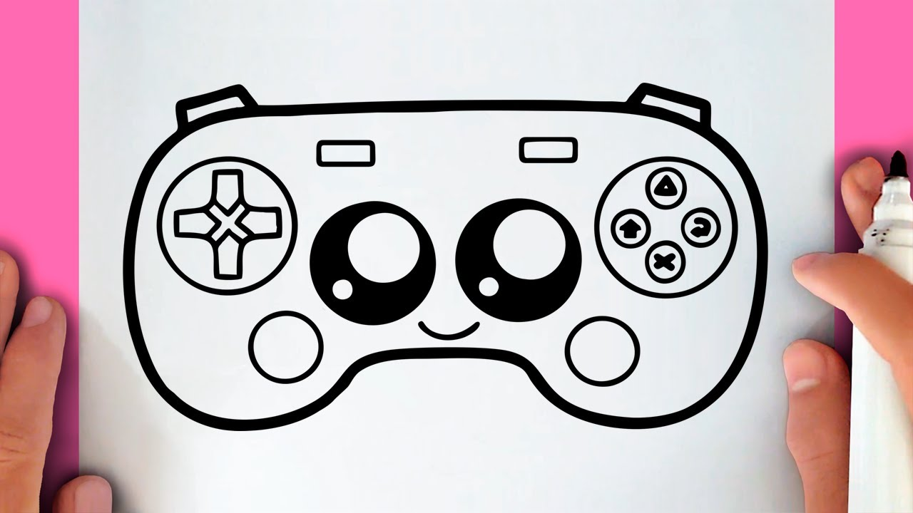 HOW TO DRAW A CUTE GAME CONTROLLER