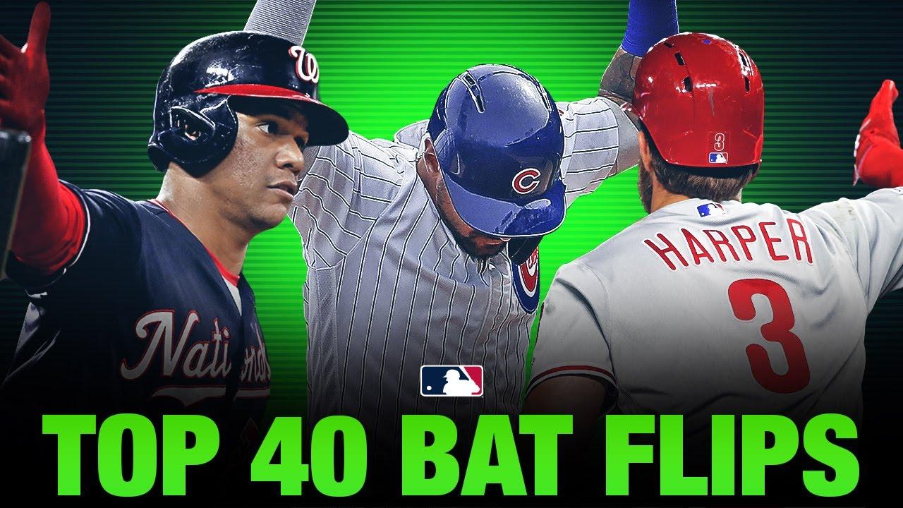 The top 40 MLB bat flips of 2019!