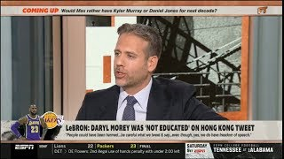 ESPN FIRST TAKE | Max SHOCKED by LeBron says Daryl Morey was 'not educated' on Hong Kong tweet