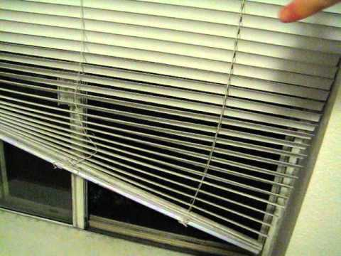 pull down blinds window how to drop blinds properly youtube