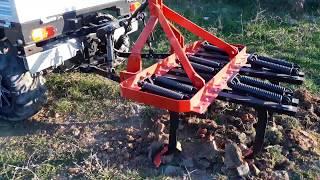 Agrives KATSU multi purpose tractor - pulling power test