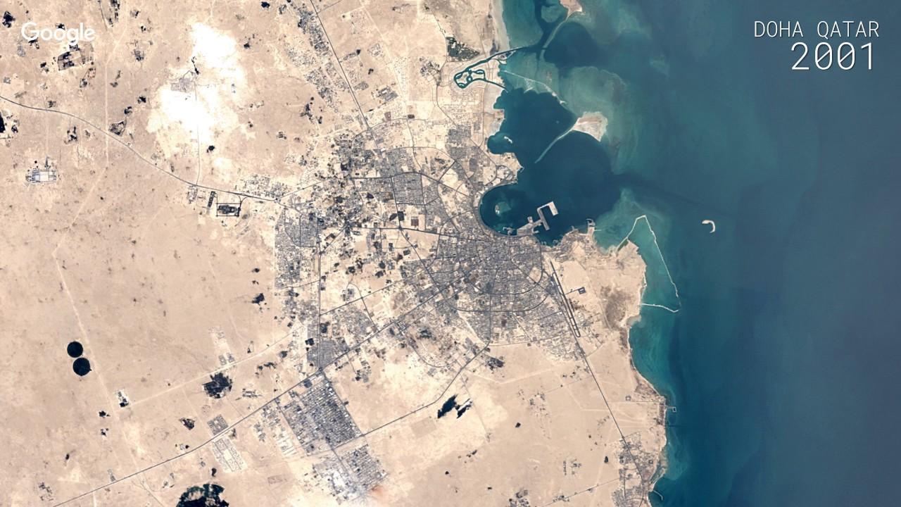 Google timelapse doha qatar youtube google timelapse doha qatar google earth gumiabroncs Choice Image
