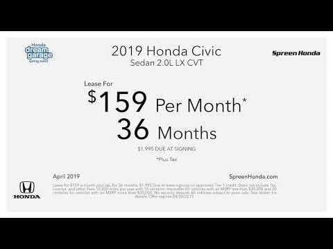 Spreen Honda - April Specials