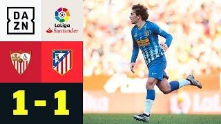 Antoine Griezmanns Freistoß rettet Atleti: Sevilla - Atletico Madrid 1:1 | DAZN Highlights | LaLiga