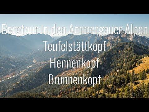 Bergtour - Schloss Linderhof - Teufelstättkopf - Hennenkopf - Brunnenkopf