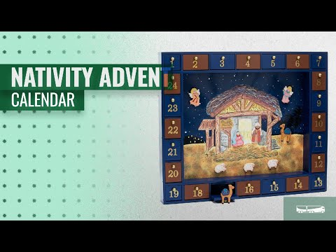 Our Favorite Nativity Advent Calendar [2018]: Kurt Adler J3767 Wooden Nativity Advent Calendar With