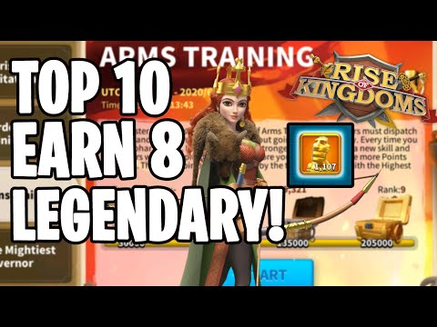 QUICK GUIDE : Top 10 Win 8 Legendary in Arms Training F2P Commander Guide | Rise of Kingdoms