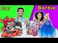 Car Vs Barbie Toys Challenge   Best Toy Showoff Challenge   Pari's Lifestyle