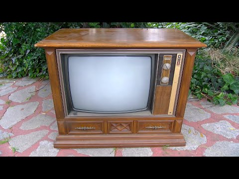 Zenith Chromacolor 1973 Color Console 4 Tube Hybrid Television Analysis