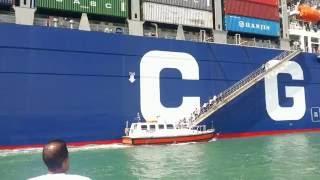 عبور اكبر سفينة حاويات فرنسية قناة السويس الجديدة ومليون دولار رسوم