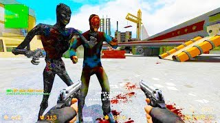 Counter Strike Source - Zombie Horde Mod Online Gameplay on MW2 Terminal Map