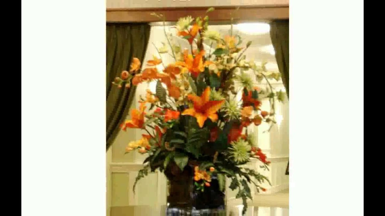 How To Make A Silk Floral Arrangement Large Artificial Flower Arrangements Youtube