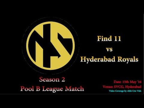 Neon Sports Season 2 Pool B League Match | Hyderabad Royals vs Find 11