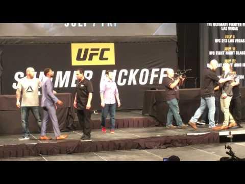 AMANDA NUNES PUNCHES VALENTINA SCHEVCHENKO AT HEATED UFC PRESS CONFERENCE