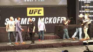 AMANDA NUNES PUNCHES VALENTINA SCHEVCHENKO AT HEATED UFC PRESS CONFERENCE