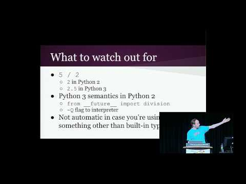 Brett Cannon - How to make your code Python 2/3 compatible - PyCon 2015