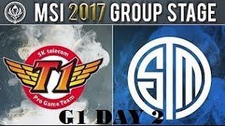 SKT vs TSM    MSI 2017 Group Stage Day 2    SKT T1 Faker Orianna vs Syndra Bjergsen TSM