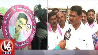 TRS Candidate Niranjan Reddy About Election Campaign In Wanaparthy | TS Assembly Polls | V6 News