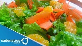 Receta Para Preparar Ensalada Con Mandarinas Y Betabel. Cocinando Con Omar Fierro