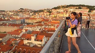 Lisbon Walk to Santa Justa Lift (Secret Way Up) with Stunning City Views - Portugal