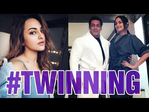 Sonakshi Sinha talks about twinning in a bathrobe with Salman Khan