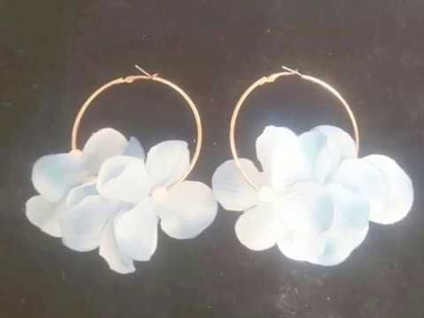 Easy way to make Flower Earrings
