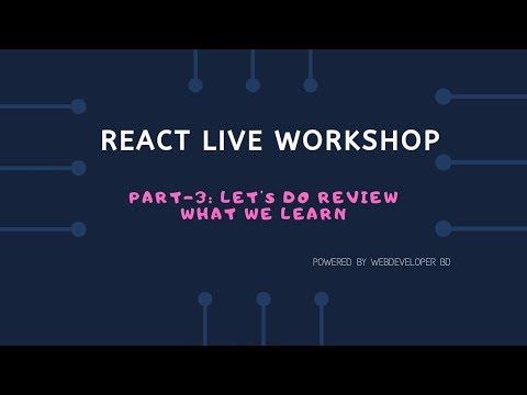 3. Let's do a Review what we learn |  React Js Bangla tutorial thumbnail