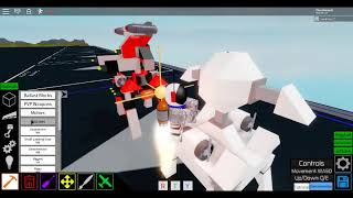 Part 2 Ultimate easy Mech build in Roblox Plane crazy.