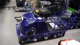 Мотобуксировщик Бурлак М 15 л с передний привод капот двигатель Lifan
