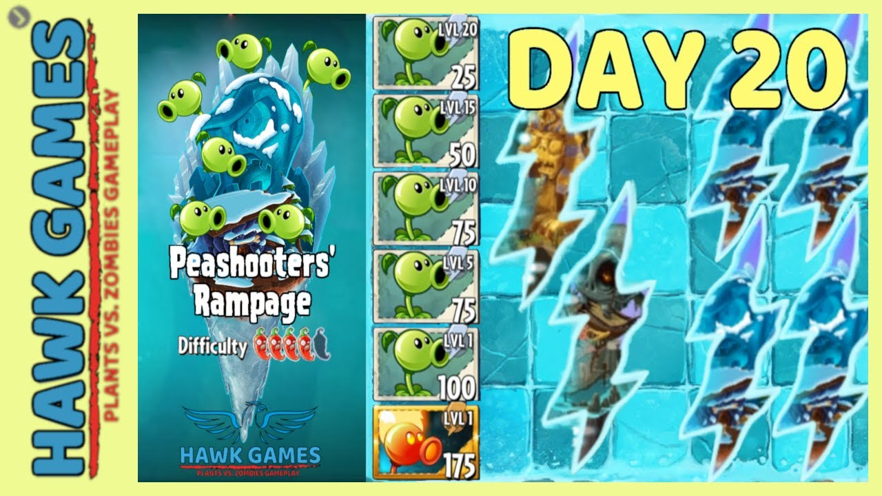 Plants vs Zombies 2 Peashooters' Rampage Frostbite Caves 20