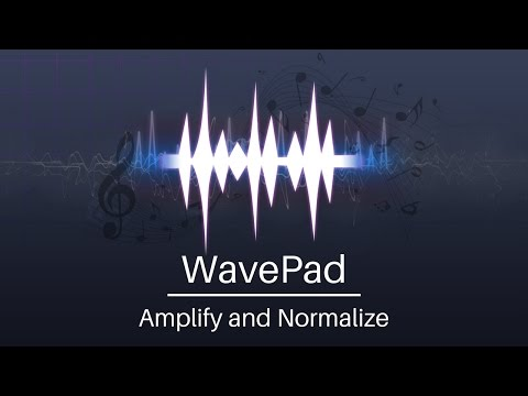 WavePad Audio Editor Tutorial | Amplify and Normalize