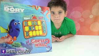 Dory's GUESS WHO Game! HobbyPig Family Fun w/HobbyMom HobbyKidsTV
